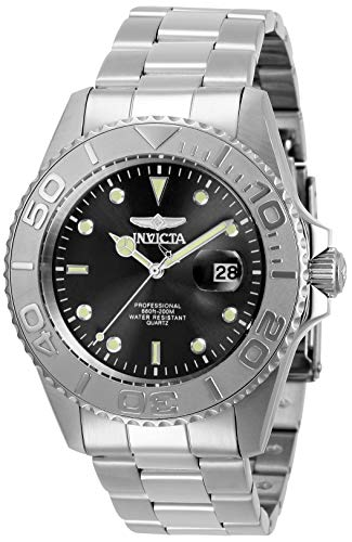 Invicta Men's Pro Diver Quartz Watch with Stainless Steel Strap, Silver, 22 (Model: 29944)