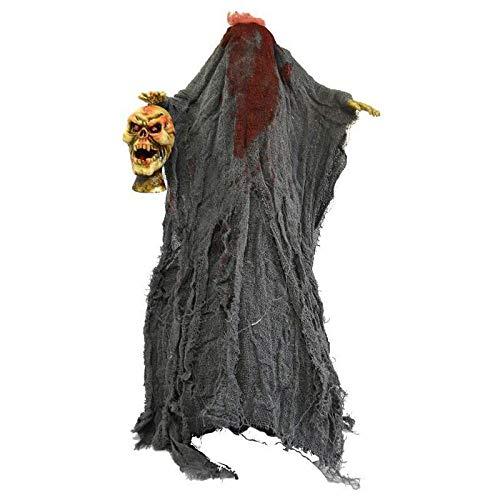 Aptafêtes - GU78076 - Squelette Habille Tête Coupée Son Mouvement Lumière - Taille 96 cm