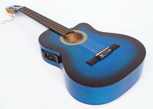 Cherrystone 4260180883381 4/4 4 Band Klassik Gitarre mit Tonabnehmer EQ blueburst