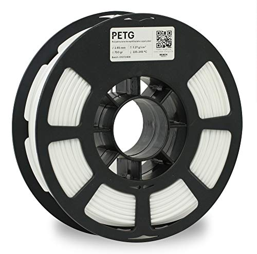 KODAK PETG Filament 2.85mm for 3D Printer, White PETG, Dimensional Accuracy +/- 0.02mm, 750g Spool (1.7lbs) PETG Filament 2.85 Used as 3D Filament Consumables to Refill Most FDM Printers