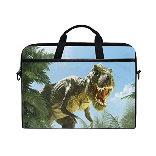 WXLIFE Cute Animal Dinosaur Tree Leaves 13 13.3 14 Inch Laptop Shoulder Messenger Bag Case Sleeve Briefcase with Handle Strap for Men Women Boys Girls