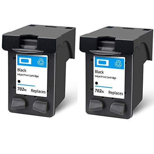 Cartucho de tinta 22XL 702XL, repuesto de alto rendimiento para impresora HP Deskjet 3910 D1311 F2120 Officejet J3508 J3606 J3608 J5508 tinta negra y tricolor 2 negro