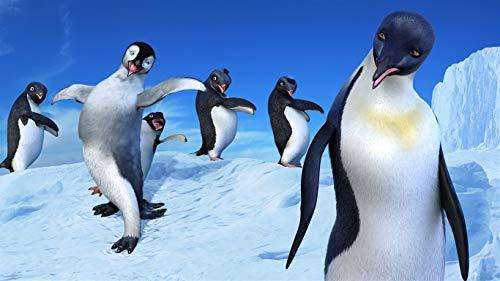 Flbyqv Kit de Pintura de Diamantes 5D,Familia de pingüinos Diamond Painting Taladro Completo Cristal Rhinestone Bordado Punto de Cruz Artes Lienzo Artesanal(40x60cm)