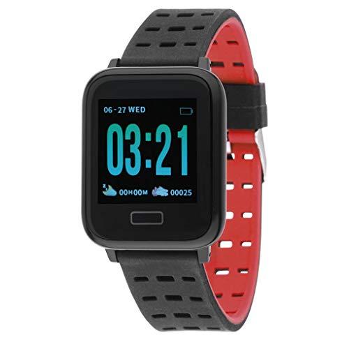 Nowley Reloj Digital smartwatch Smart Bracelet Rojo
