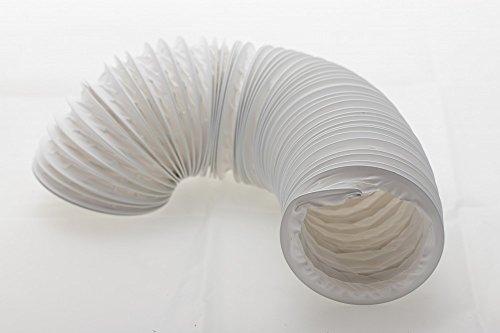 daniplus Abluftschlauch PVC flexibel Ø 100/102 mm, 6 m z.B. für Klimaanlagen, Wäschetrockner, Abzugshaube