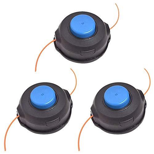 CDIYTOOL Lot de 3 têtes de débroussailleuse M10 T35 de rechange pour Hus-qvarna 531300183 - Tête de robinet à alimentation automatique - Axe droit - Pour tondeuse 323L 323R 324LX...