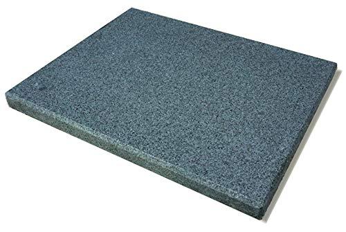 NEU! Universal Granit Pizzastein - Heisser Stein - Grillstein für Backofen, Gasgrill und Holzkohlegrill geeignet L 38x30x3cm