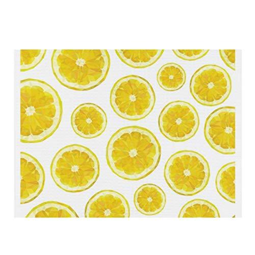 Alfombrilla de secado de microfibra para cocina, de bajo poli moderno, de color amarillo fresco, súper absorbente, de secado rápido, almohadilla de secado para platos de cocina, 15,7 x 11,8 cm