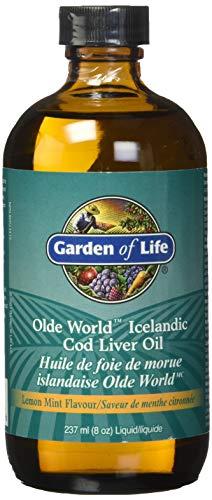 Garden of Life, Olde World, Huile de Foie de Morue Islandaise, Arôme Citron Menthe, 236 ml