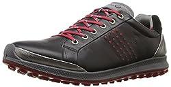 ECCO Mens Men's Golf Biom HYBRID 2 Golf Shoes, Black (50612BLACK / BRICK), 43 EU