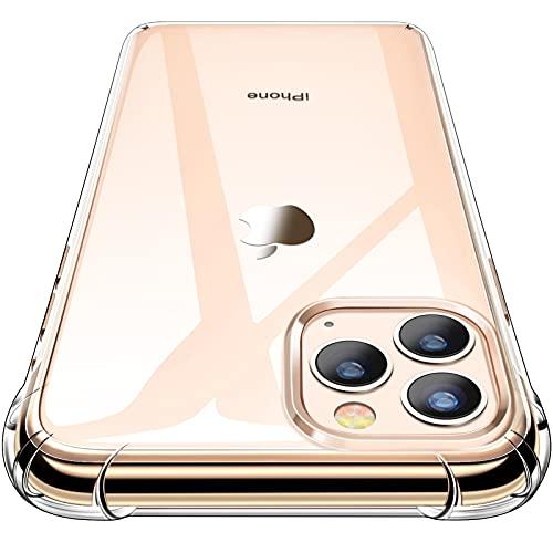 CANSHN Clear für iPhone 11 Pro Max Hülle, Hochwertig Transparent Weiche Durchsichtig Dünn Handyhülle mit TPU Stoßfest Fallschutz Bumper Hülle Cover für iPhone 11 Pro Max 6.5'' - Klar