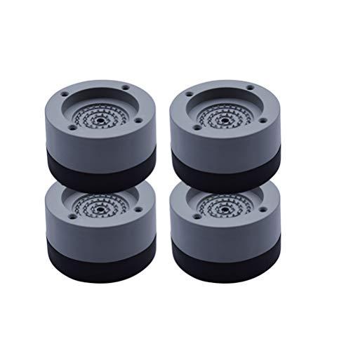 Surenhap Waschmaschinen Schwingungsdämpfer Vibrationsdämpfer Antivibrationsmatte für Waschmaschine & Waschtrockner Füße, 4pcs L