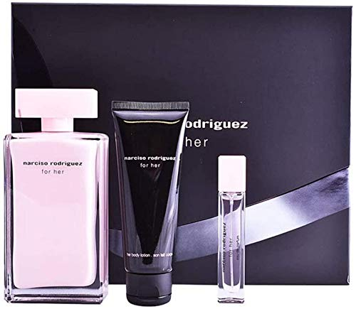 Narciso Rodriguez For Her Eau De Parfum Spray 100ml Set 3 Pieces 2019