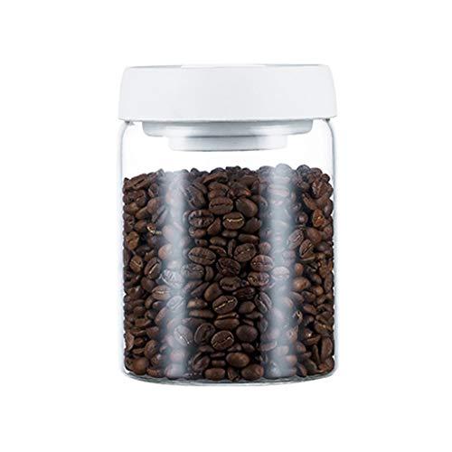 Zsail Tarros Cristal con Tapas Herméticas Sin BPA Recipientes de Cristal para Alimentos a Prueba de Humedad Botes Cristal para Nueces, Granos de Café, Leche en Polvo, Té (Color : White-0.9L)
