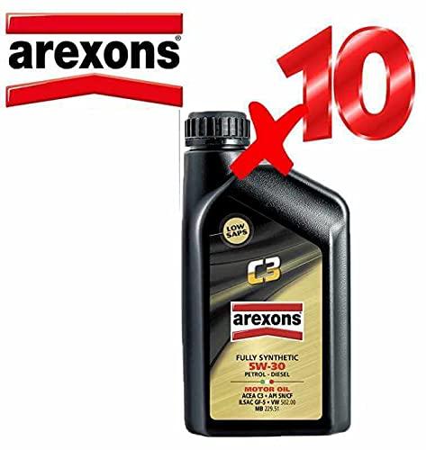 Olio Motore 5w30 Petronas/AREXONS C3 Sintetico da 10 L Litri per Motori Benzina e Diesel GPL e...