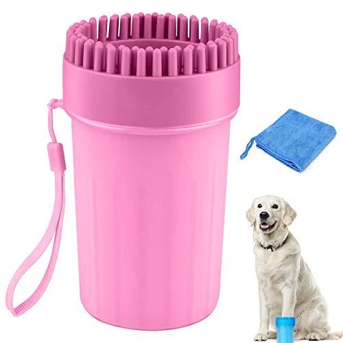 Limpiador de Huellas de Perro,Limpiador de Patas de Perro,Lavadora de pies de Perro,Taza de Limpieza para Mascotas,Limpiador de Patas para Perro Gato,Taza de pie para Mascotas (A)