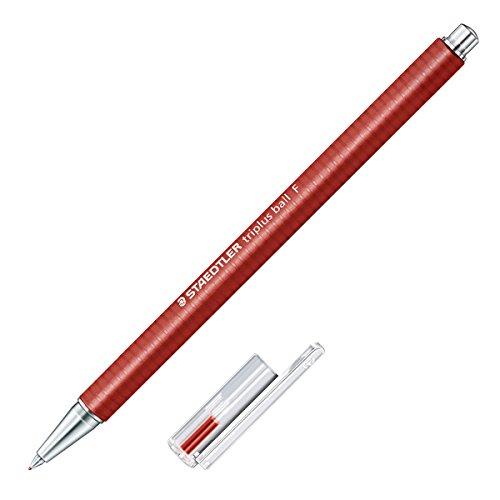 Staedtler Oil-Based Ballpoint Pen Triplus, Red, 0.7mm Point (431 F-2)