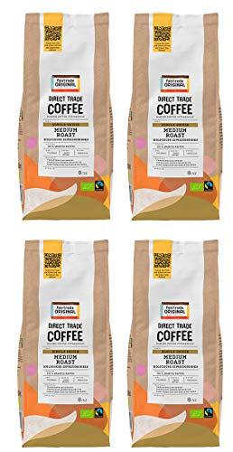 Bio Espressobohnen (4 x 500g) | Direct Trade Coffee | von Fairtrade Original | ganze Kaffeebohnen | Bio und fair trade zertifizierte Kaffee Bohnen | Kaffee aus Kolumbien | 100 % Arabica Bohnen