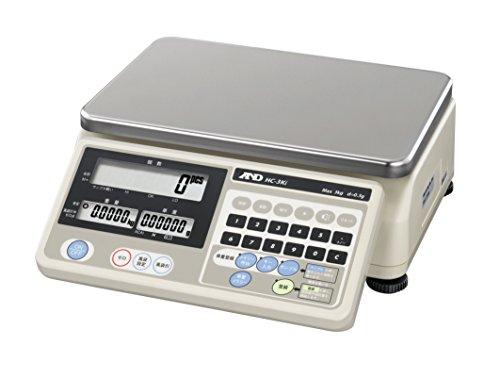 A&D 個数計 HC-3Ki ≪ひょう量:3kg 最小表示:0.5g(計量可能最小単重:0.1g) 皿寸法:300(W)*210(D)mm JCSS校正付≫