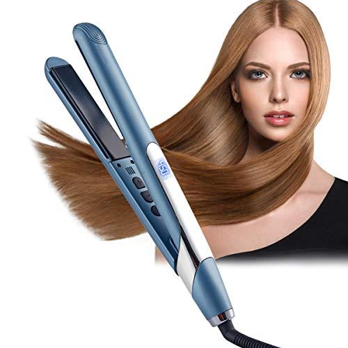 Haarglätter, Glätteisen Haarglätter und Lockenwickler, professioneller Haarglätter Flacheisen, mit Keramikplatten und digitalen Bedienelementen