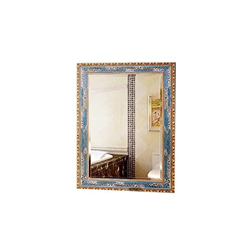 Home - mirror Decoración del hogar Espejos Rectángulo Espejo Antiguo, Porche Sala De Estar De Madera Fondo De Pared Espejo De Pared A Prueba De Agua Grande Espejo Espejos de baño(Size: 60 * 80CM)