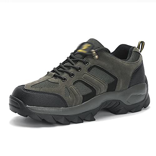 Fnho Calzado Deportivo para Hombres y Mujeres,Ocio Deportes al Aire Libre Calzado,Calzado Ligero para Hombre al Aire Libre, par de Zapatos para Caminar-Verde Militar_45