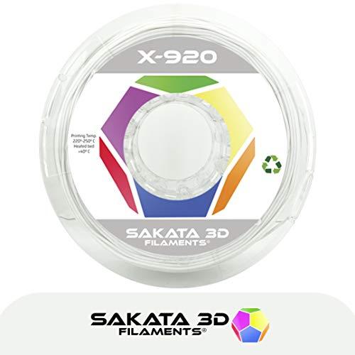 SAKATA 3D - Filamento Bobina Flexible X-920 1.75mm 500 Gramos Color Natural para Impresión Impresora Pluma 3D (Resistente a la Temperatura, Absorbe Impactos) Fácil de Imprimir Fabricado en España