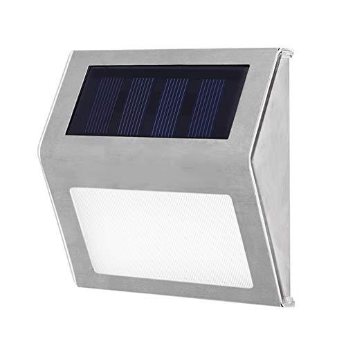 Stainless Steel 3 LED Solar Stair Lights Outdoor Courtyard Pathway Lamps Waterproof Street Garden Yard Lamp