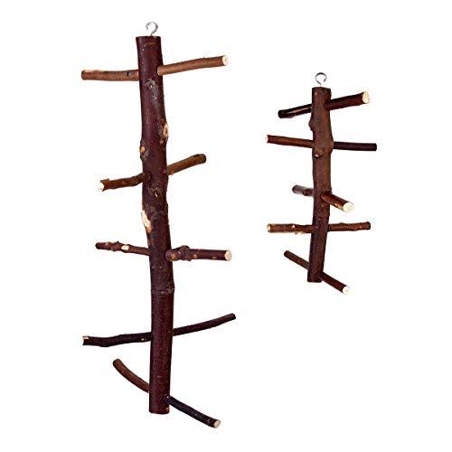 xingxing Industrial Hardware - Escaleras de madera columpio para mascotas, juguetes giratorios para colgar para pájaros, loros, guacamayos (color: L)