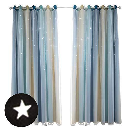 cortinas salon dobles