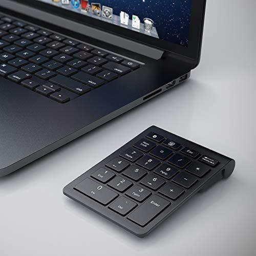CSL - Numpad Bluetooth - Ziffernblock kabellos - Keypad mit 22 Tasten - 10 Multifunktionstasten Multimedia-Keys - Tastatur mit Energiesparmodus - ergonomisch - für Laptop Desktop PC und Notebook
