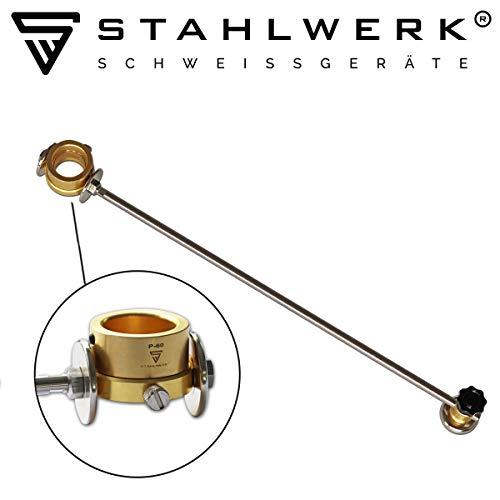 STAHLWERK Kreisschneider für P-60 Plasmabrenner, inkl. Führungswagen und Magnet, Zubehör für Plasmaschneider mit Pilotzündung