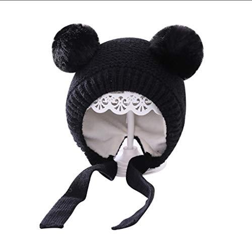 SJYDQ Infant Baby Girls Boys Sombrero sólido Accesorios cálidos de Invierno Gorro de otoño Orejeras Gorros