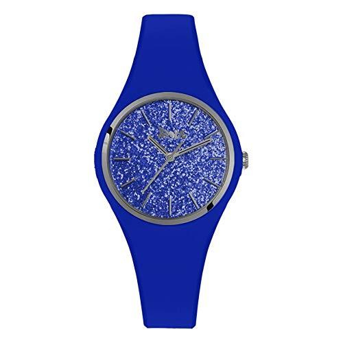 Boccadamo Reloj de mujer de silicona hipoalergénica azul eléctrico con esfera de...