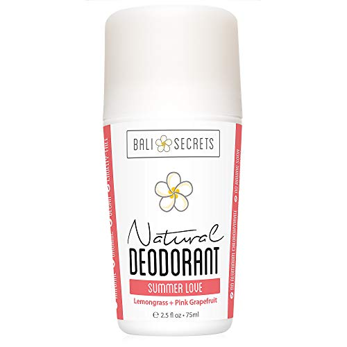 Bali Secrets Natural Deodorant - Organic & Vegan - For Women & Men - All Day Fresh - Reliable Protection - 2.5 fl.oz/75ml [Scent: Summer Love]