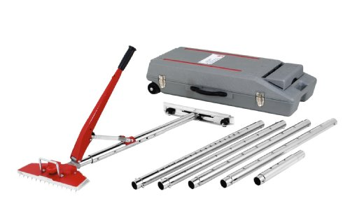 ROBERTS 10-254 23-1/2 Foot Power-Lok Carpet Stretcher Kit with 17 Locking Positions and 18 Inch Tail Block with Wheels, Including Wheeled Carrying Case