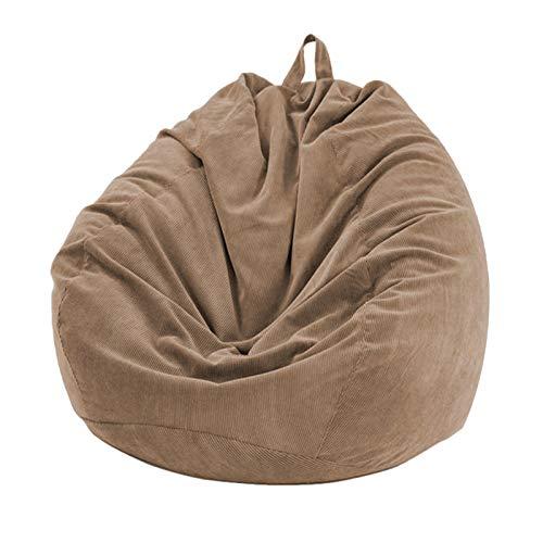 Earlyad Sitzsack Stuhlbezug, Lazy Lounger Sitzsack Aufbewahrungsstuhl Weiche abnehmbare waschbare Schonbezug Jacke für Home Garden Lounge Wohnzimmer Everyday
