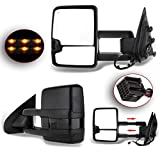 ANPART Towing Mirrors Fit for 2014-2018 1500 2015-2019 2500 HD 3500 HD Tow Mirrors With A Pair LH and RH Side Power with Heating Turn Signal Lamp Clearance Light