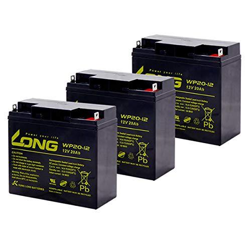 Kung Long / WP20-12 【お得!3個セット】 12V用 サイクルバッテリー シールド型 MF