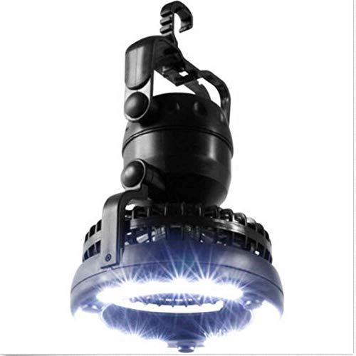 Greetuny - Ventilador de camping portátil con 18 luces LED