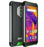 Blackview BV6600 Pro Imagen Térmica Móvil Resistente, Batería 8580mAh (Carga Inversa), 5.7'' HD+ IP68 IP69K Teléfono Antigolpes Android 11, 2.3GHz Octa Core 4GB+64GB, Cámara 16MP GPS Doble SIM Verde