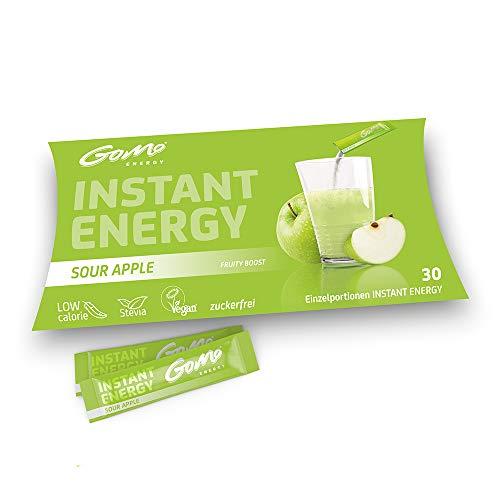 GoMo ENERGY® 100% Natuurlijke vitaliteitsdrank | Suikervrije Booster voor Fysieke en Mentale Vermogens | Meer energie, focus en concentratie | Veganistisch, caloriearm, Stevia | SOUR APPLE 30 Enkele porties