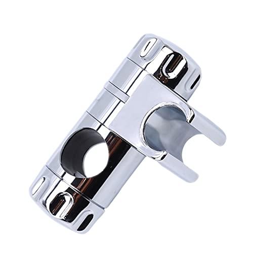 Staffa Supporto Doccia Universale Cromata Doccetta Scorrevole per Asta Doccia 25mm Ruotabile 360°