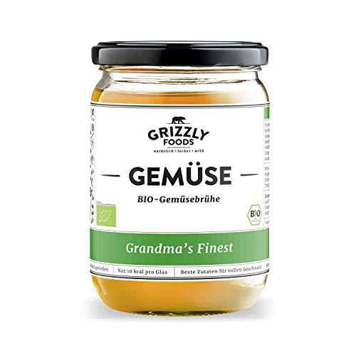 Biologische Gemüsebrühe aus Deutschland (6x500ml) • 6 Stunden gekocht • Wertvolle Nährwerte • Vegetarisch • Kraftbrühe • Grandma's Finest