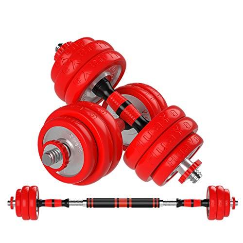 Mancuernas de goma extraíbles para el hogar, equipo de fitness, electrochapado, entrenamiento de fuerza y músculos del brazo (color: rojo, tamaño: 20 kg)