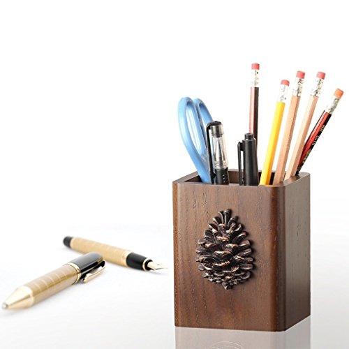Porte-stylo Créatif Européen Américain Pastorale Stylo En Bois Titulaire De Bureau De Stockage Boîte Porte-stylo Boîte De Rangement Cosmétique Grand
