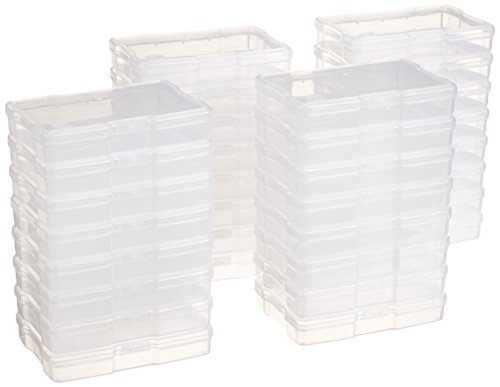 """IRIS USA, Inc. KP-XLPHO 4"""" x 6"""" Photo and Craft Keeper, Extra Large, Clear & PJC-300 Portable Project Case, Thick, Clear  """