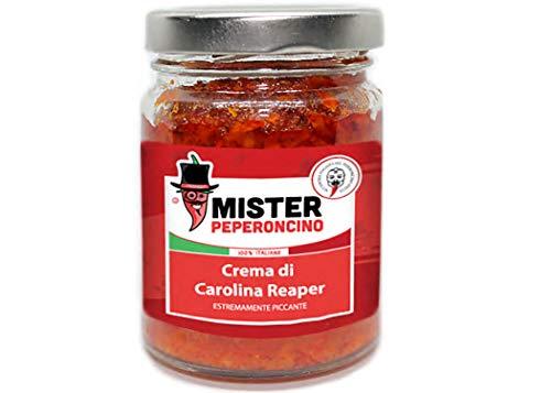 Carolina Reaper - Crema - Il peperoncino più piccante al mondo (90gr). Piccantezza estrema, dosare con molta cautela - Mister Peperoncino