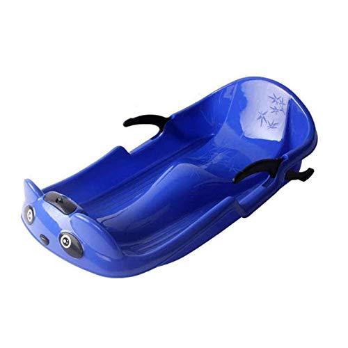 Plastic Sneeuwsleeën,Kinderen Slee,Sledeslee Slee Voor Kinderen Stuurglijbaan Met Koordrem Voor Kinderen Rodelslee,Blue