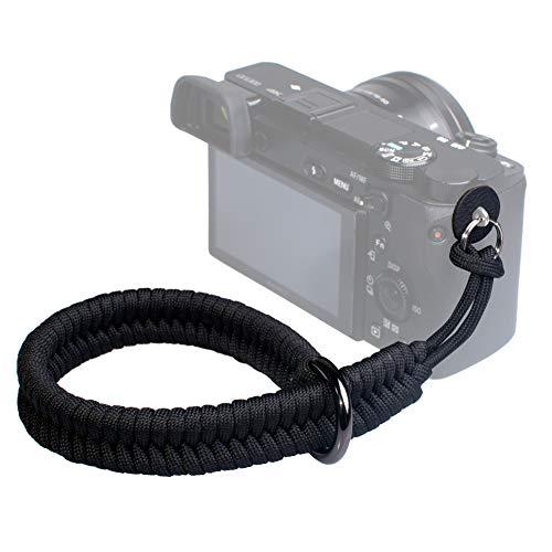 VKO Kamera Handschlaufe Kameragurt Handgelenk-Schlaufe Trageschlaufe geeignet für Nikon/Canon/Sony/Panasonic/Fujifilm/Olympus DSLR SLR oder spiegellosen Kameras (Schwarz)